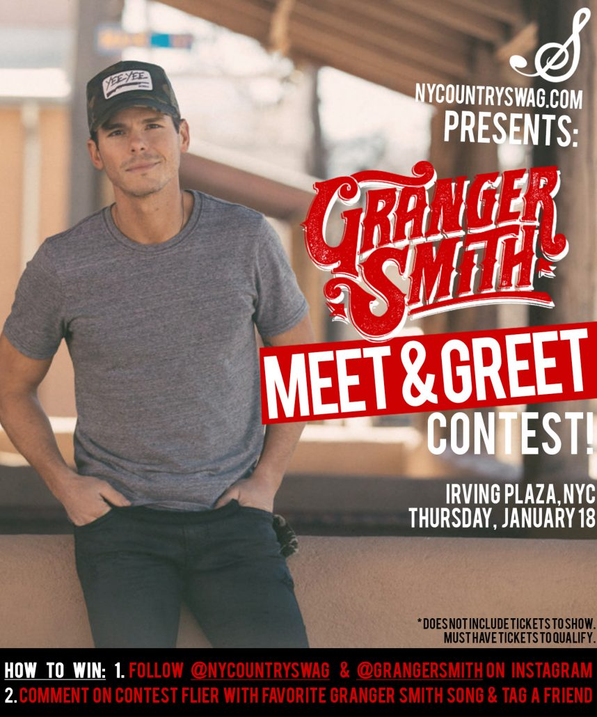 Win a meet greet with granger smith nycs win a meet greet with granger smith m4hsunfo